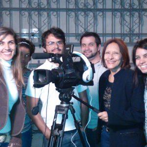 ANNAMARIA DIAS COM ESTUDANTES DE RÁDIO E TV