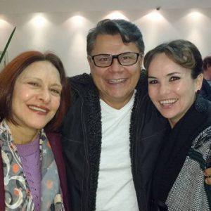 ANNAMARIA DIAS, PAULO ALMEIDA E AMANDA ACOSTA