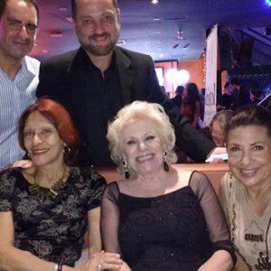 ANNAMARIA DIAS, SARDINHA MELO, RUVIN SEGAL, LÉA CAMARGO E LISA VIEIRA